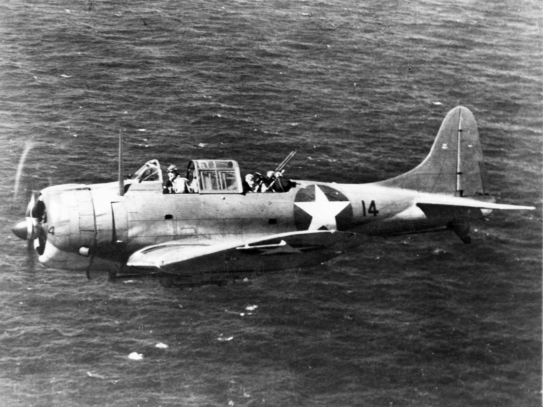 File Sbd 3 From Uss Wasp Cv 7 In Flight Near Guadalcanal