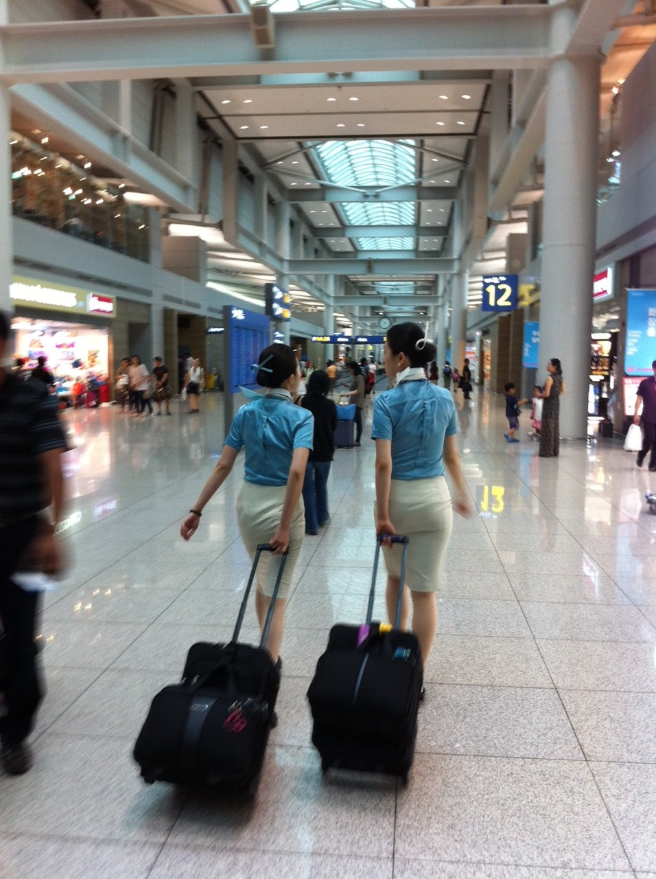 File:SK Korean Seoul Incheon International Airport ICN interior crew ...