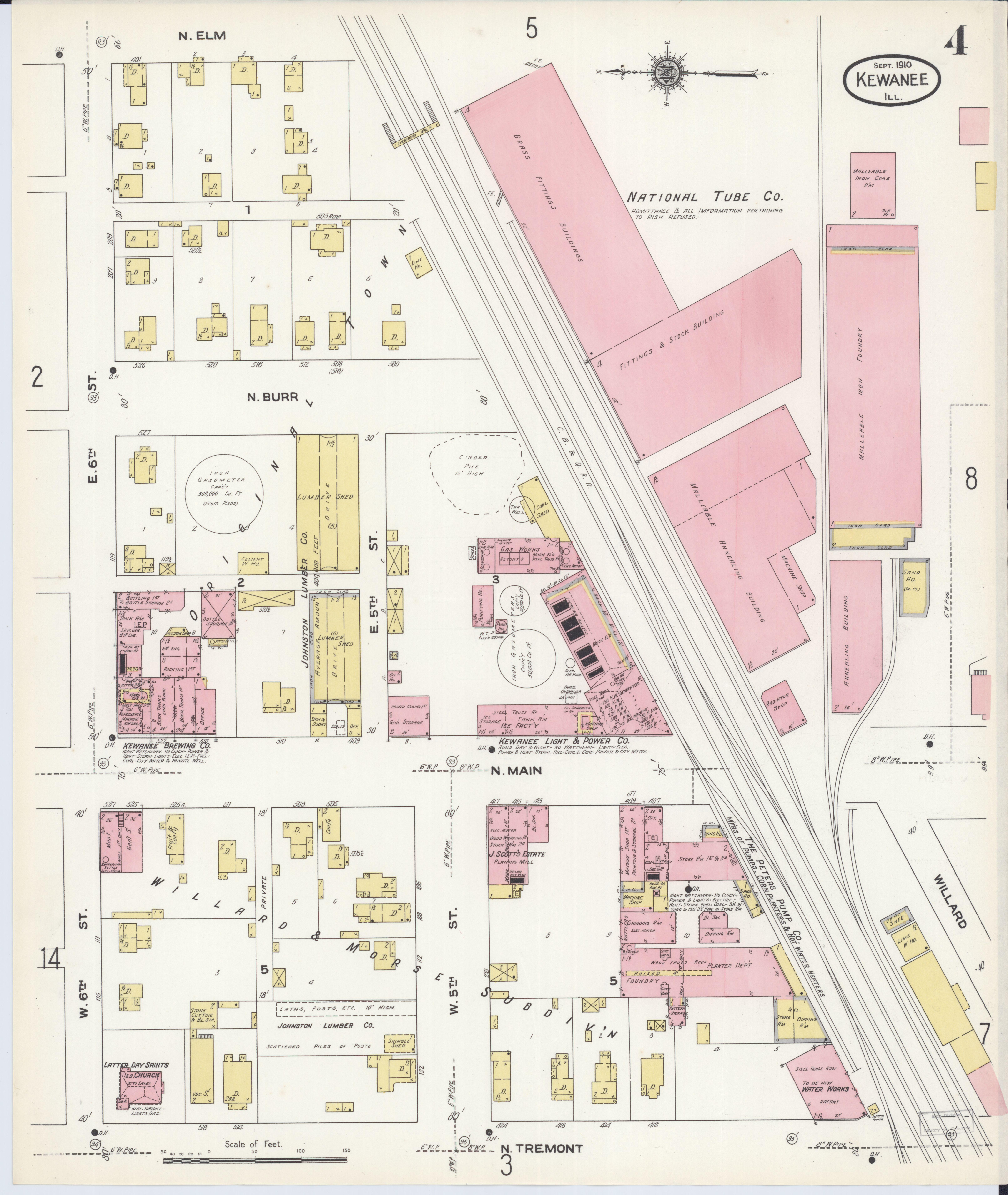 Kewanee Illinois Map.File Sanborn Fire Insurance Map From Kewanee Henry County Illinois