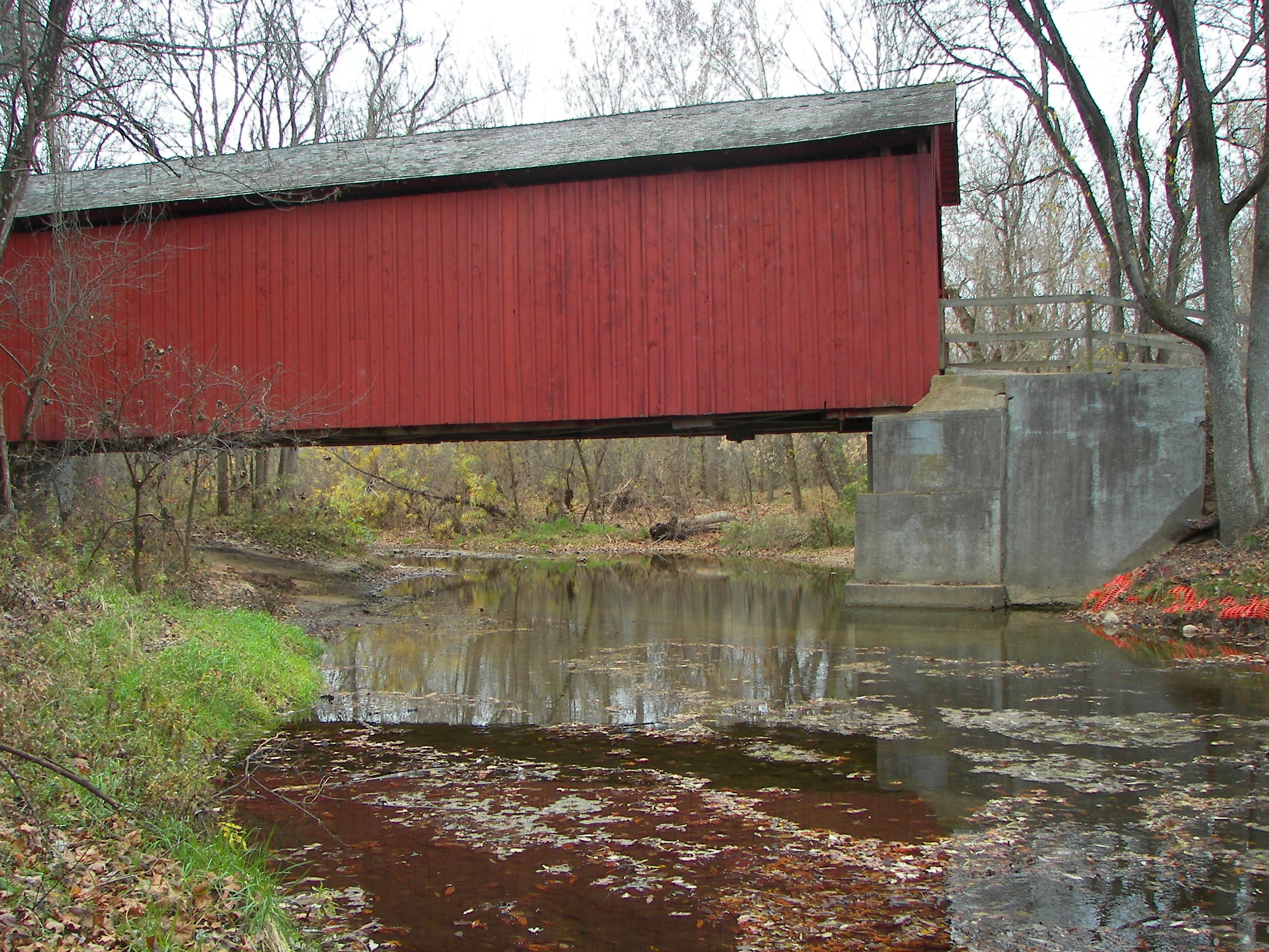 Sandy creek covered bridge state historic site for Sandy creek