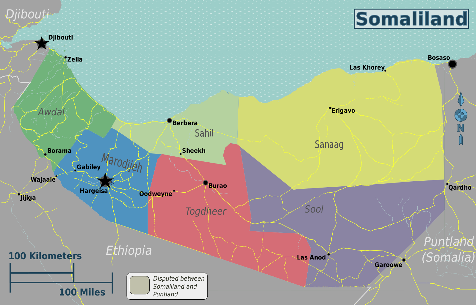 List Of Cities In Somaliland Wikipedia