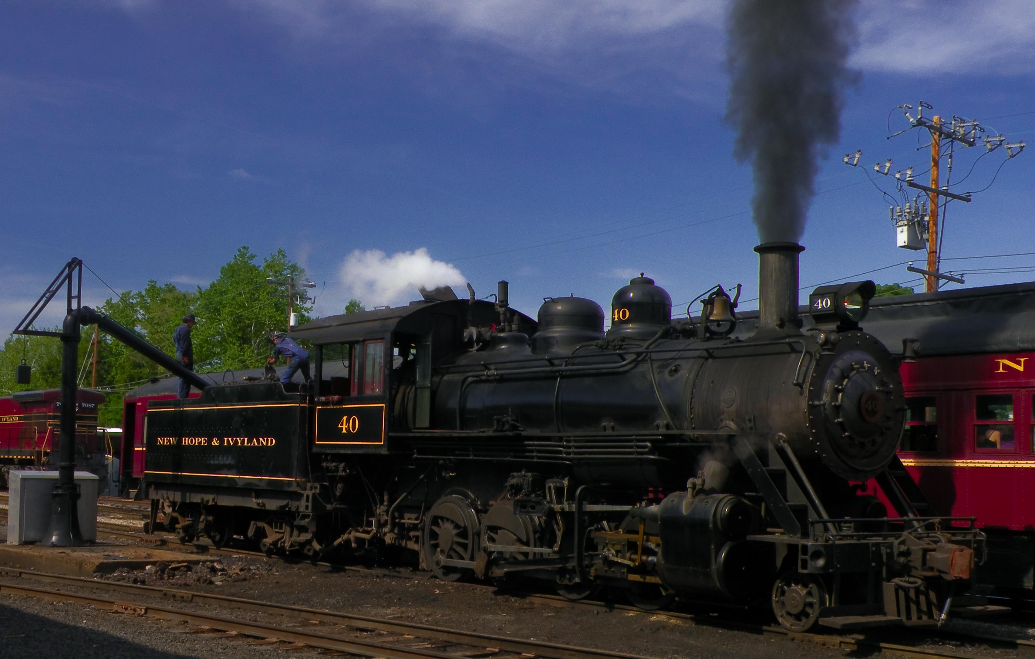 Kingston Flyer steam train in New Zealand at Kingston station ...