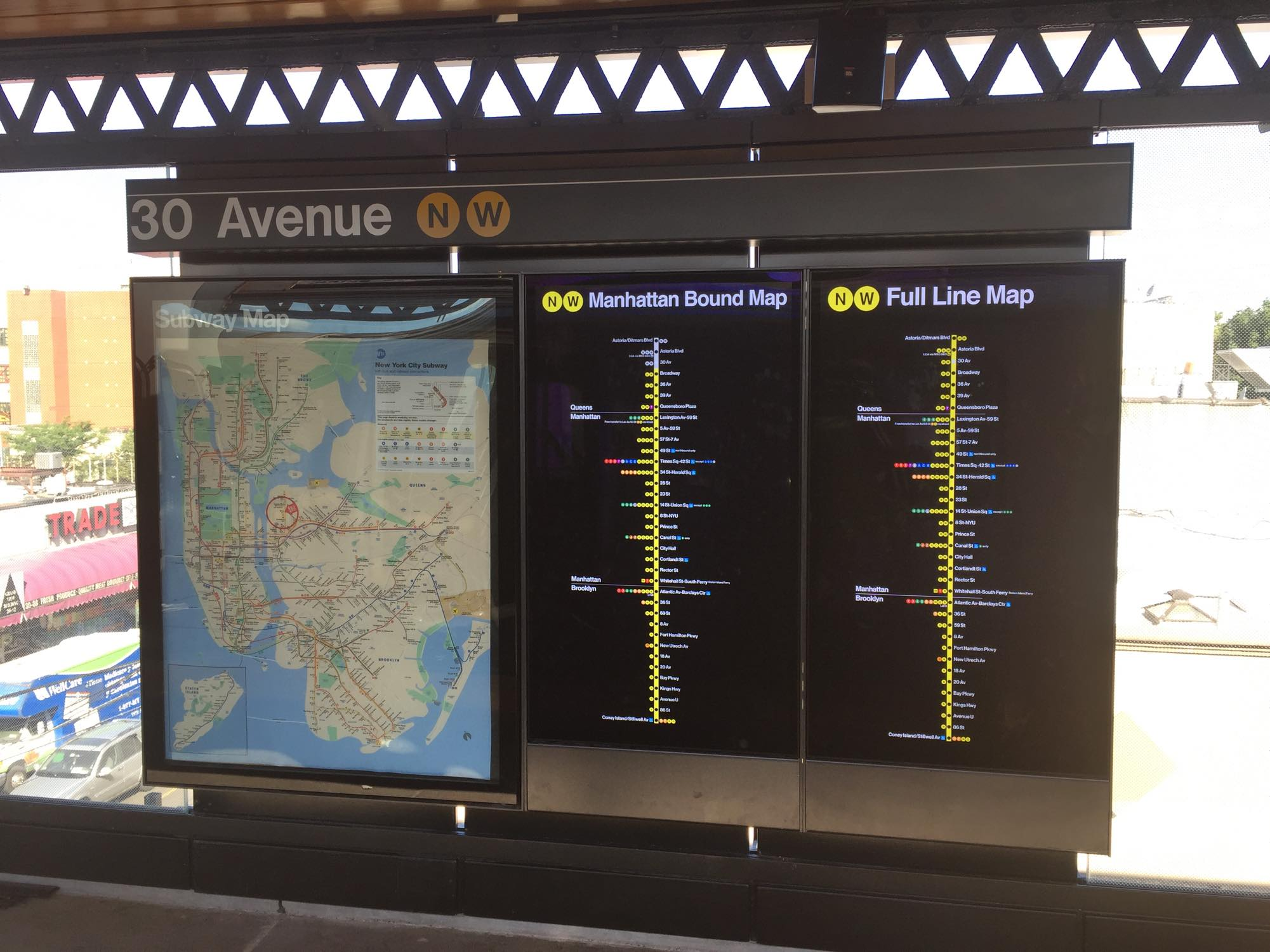 Astoria Subway Map.File Subway Map And Line Map At 30 Av N W Line Station Jpg
