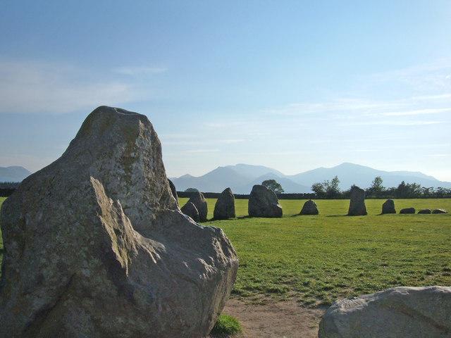 The Altar stone, Castlerigg Stone Circle - geograph.org.uk - 222553