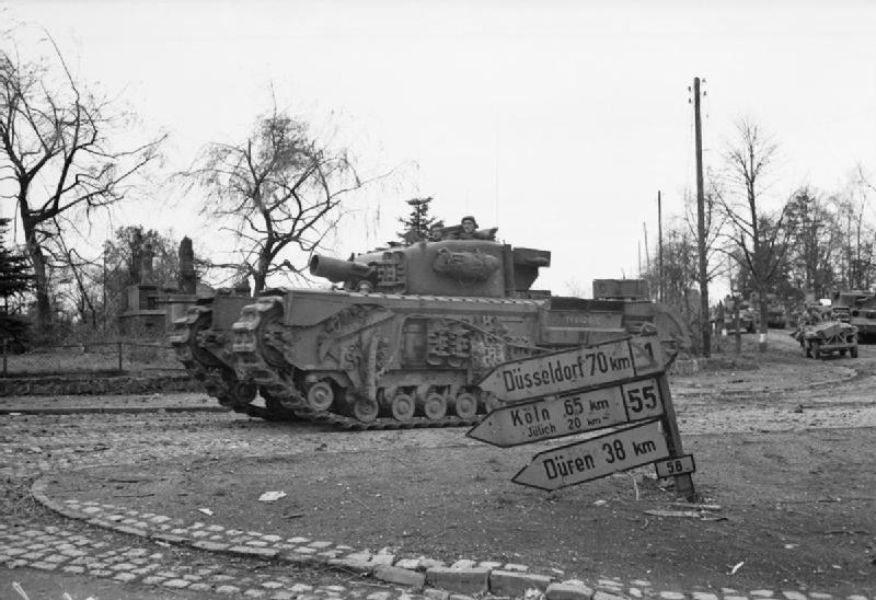 Churchill AVRE entering Germany