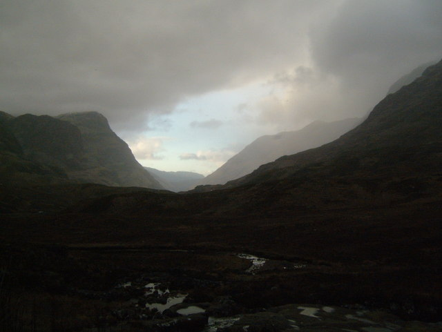 The Pass of Glencoe in the Gloaming - geograph.org.uk - 1060074