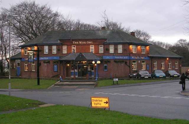 File:The Wise Old Owl - Otley Old Road - geograph org uk