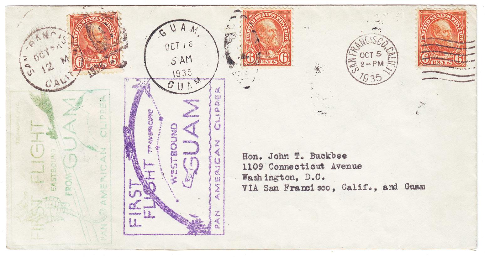 overcarriedbothdirectionsonthefirstcommercialflightsbetweenuamandthenitedtates,ctober524,1935.