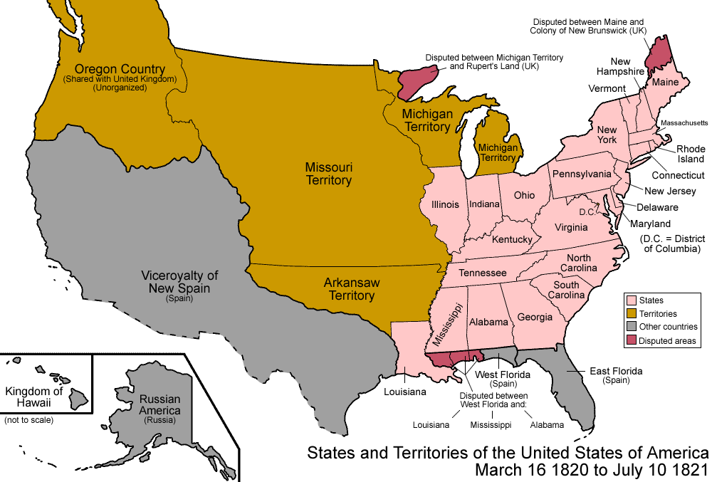 FileUnited States Png Wikimedia Commons - Map of us in 1820