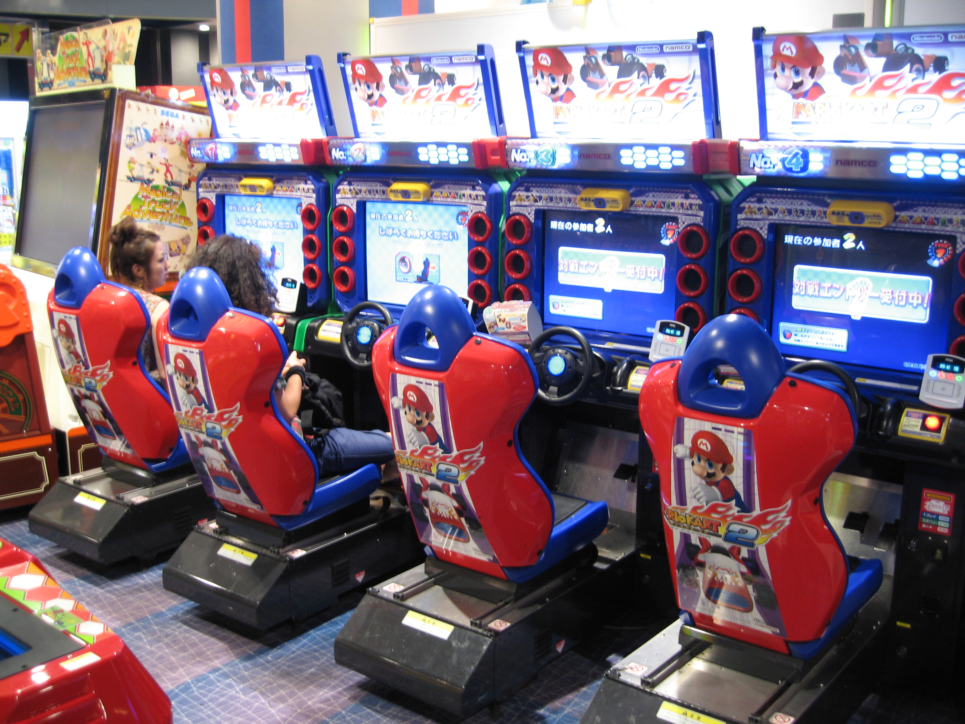 File:Various Mario Kart Arcade GP machines.jpg