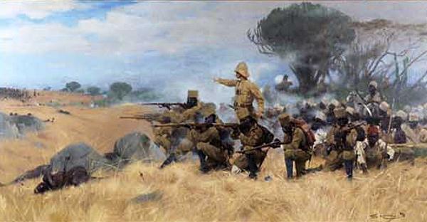 Wilhelm Kuhnert - Schlacht bei Mahenge - Deutsch-Ostafrika - 1905