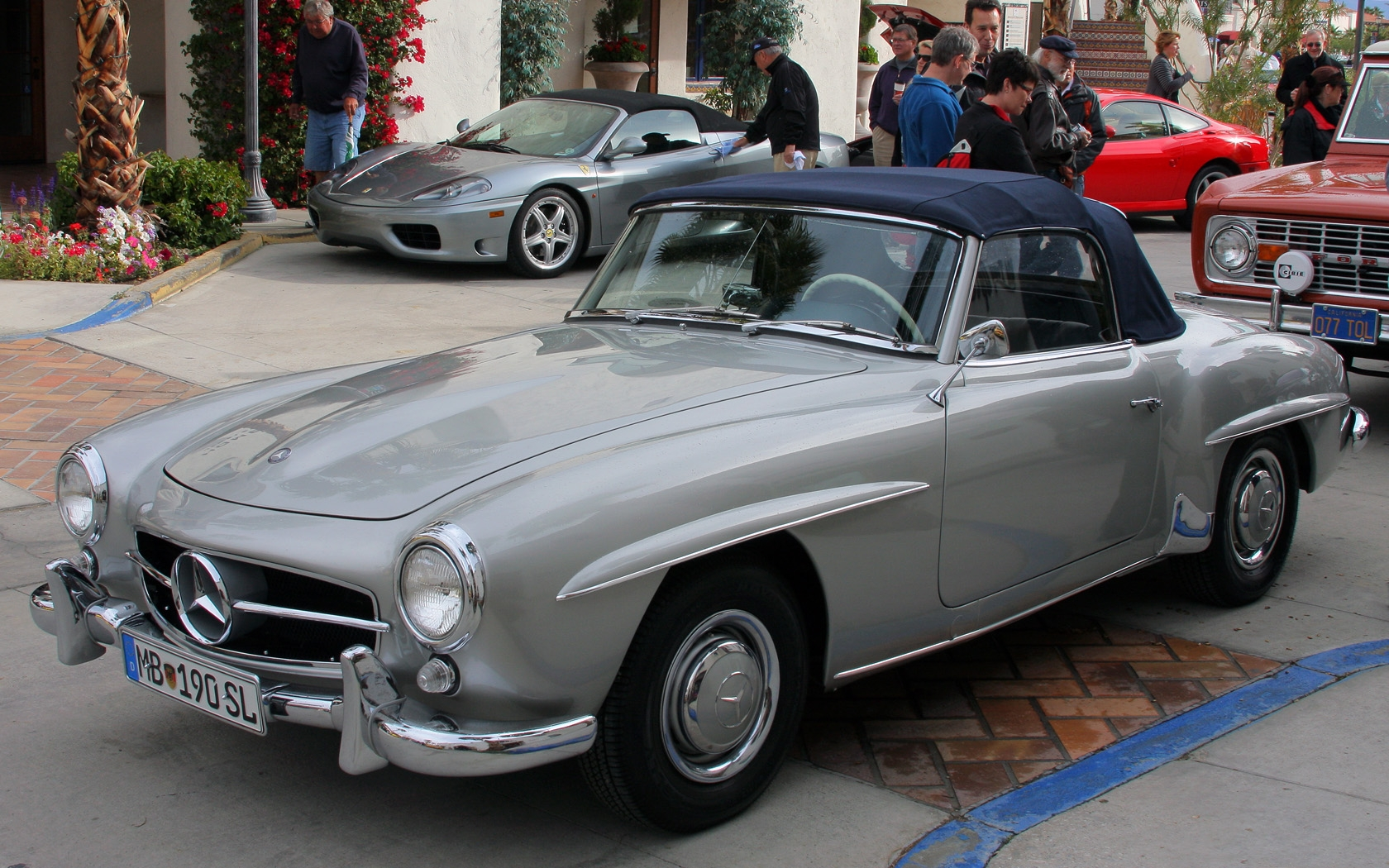 All Types 190 mercedes sl : File:1961 Mercedes Benz 190 SL - silver - fvl.jpg - Wikimedia Commons