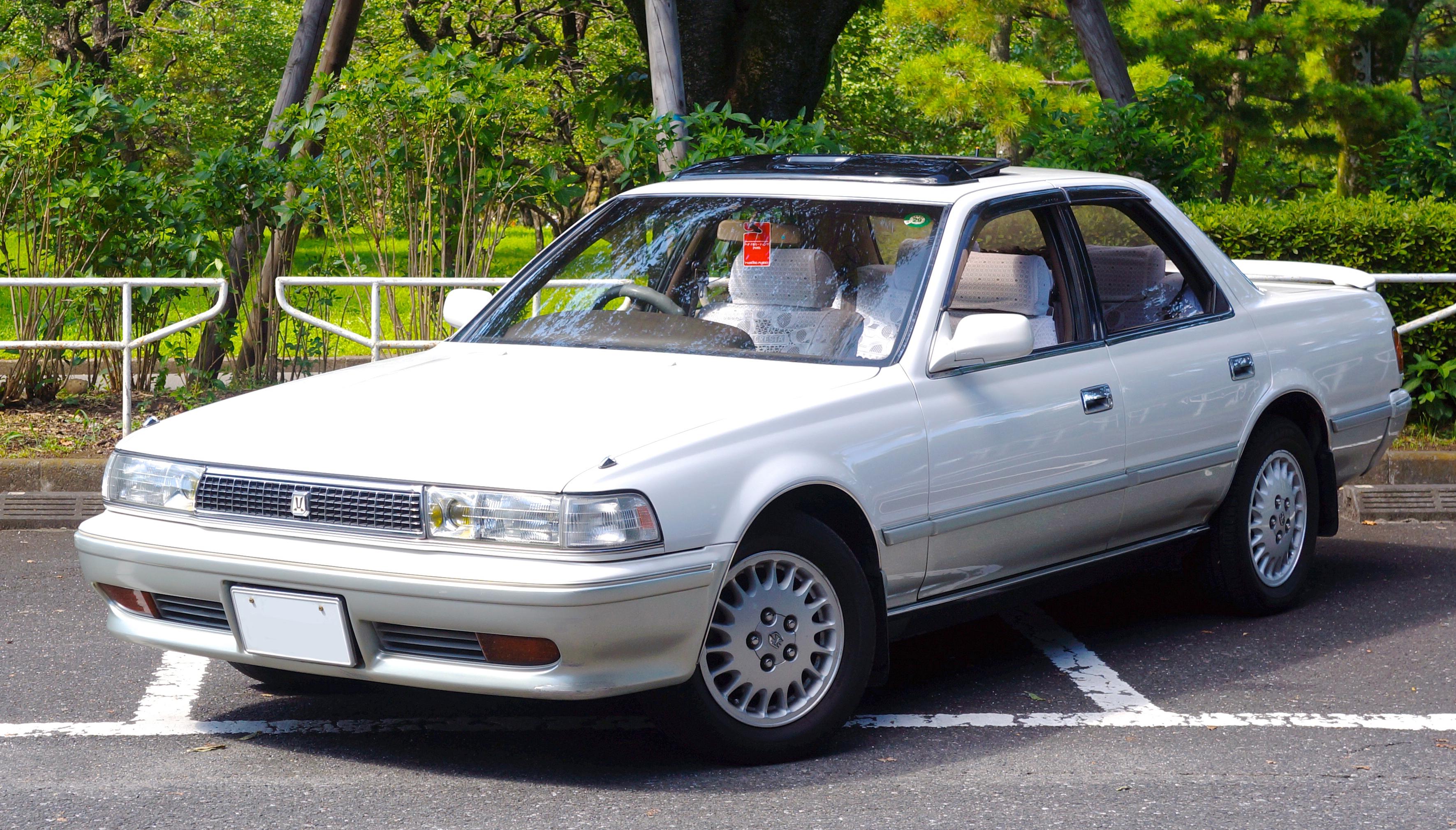 File 1990 Toyota Cresta 2 5gt Twin Turbo Front Jpg Wikimedia Commons