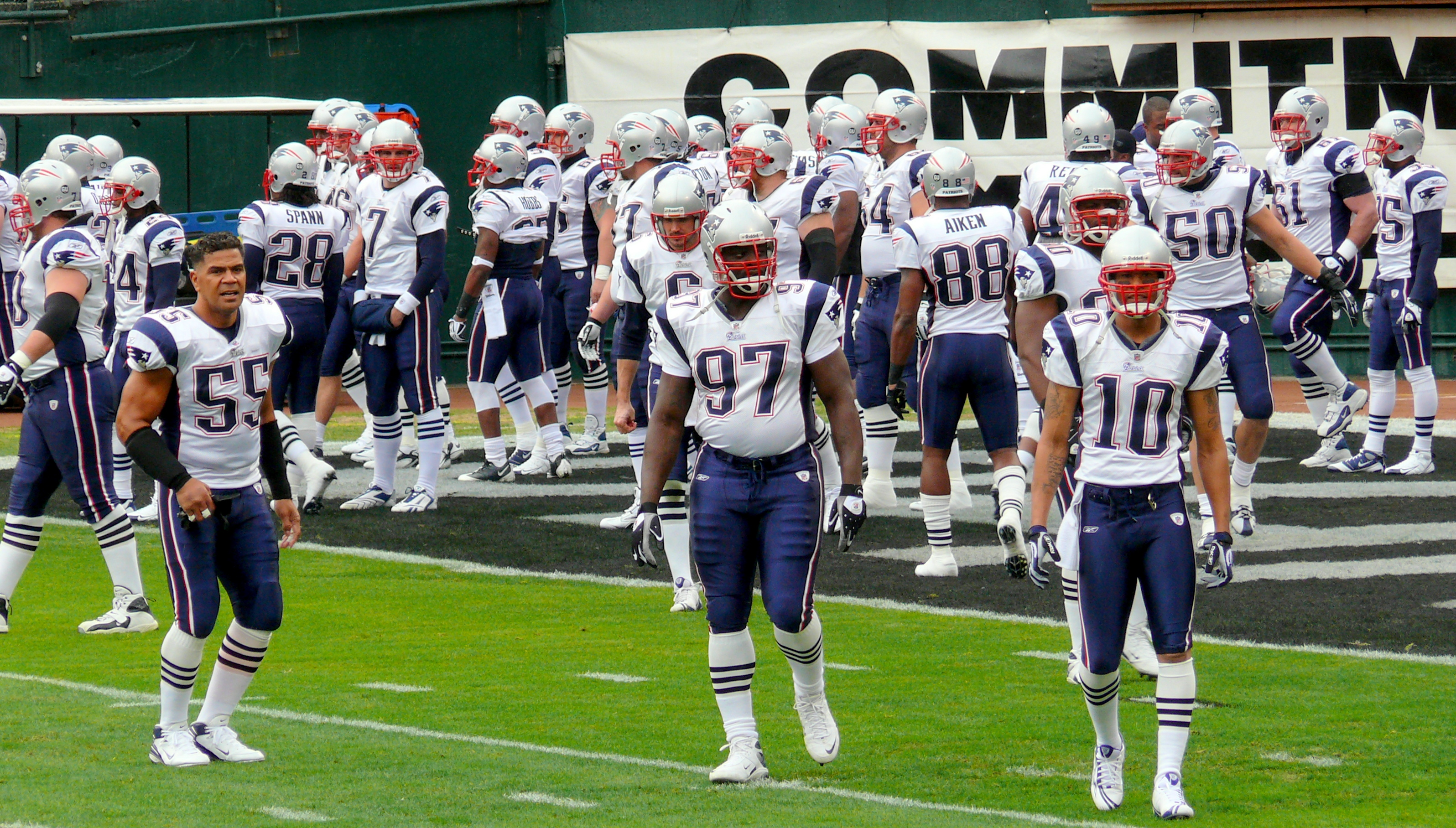 New england patriots 2008 roster offense 5-1