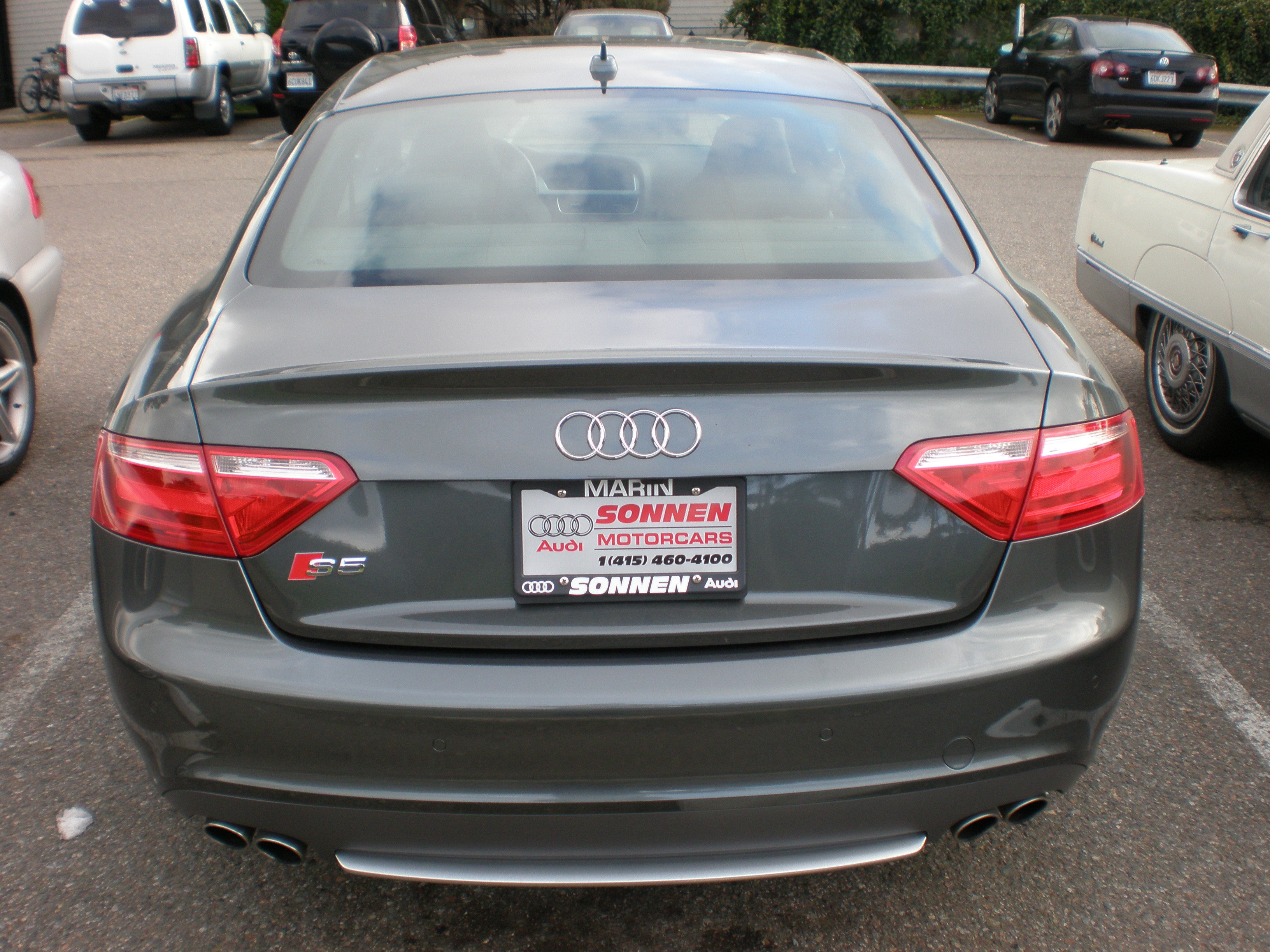 File 2009 Gray Audi S5 Rear Jpg Wikimedia Commons