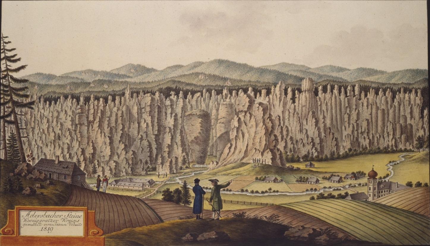 Adersbacher Steine Königgrätzer Kreises gemahlt von Joann Venuto 1819.jpg