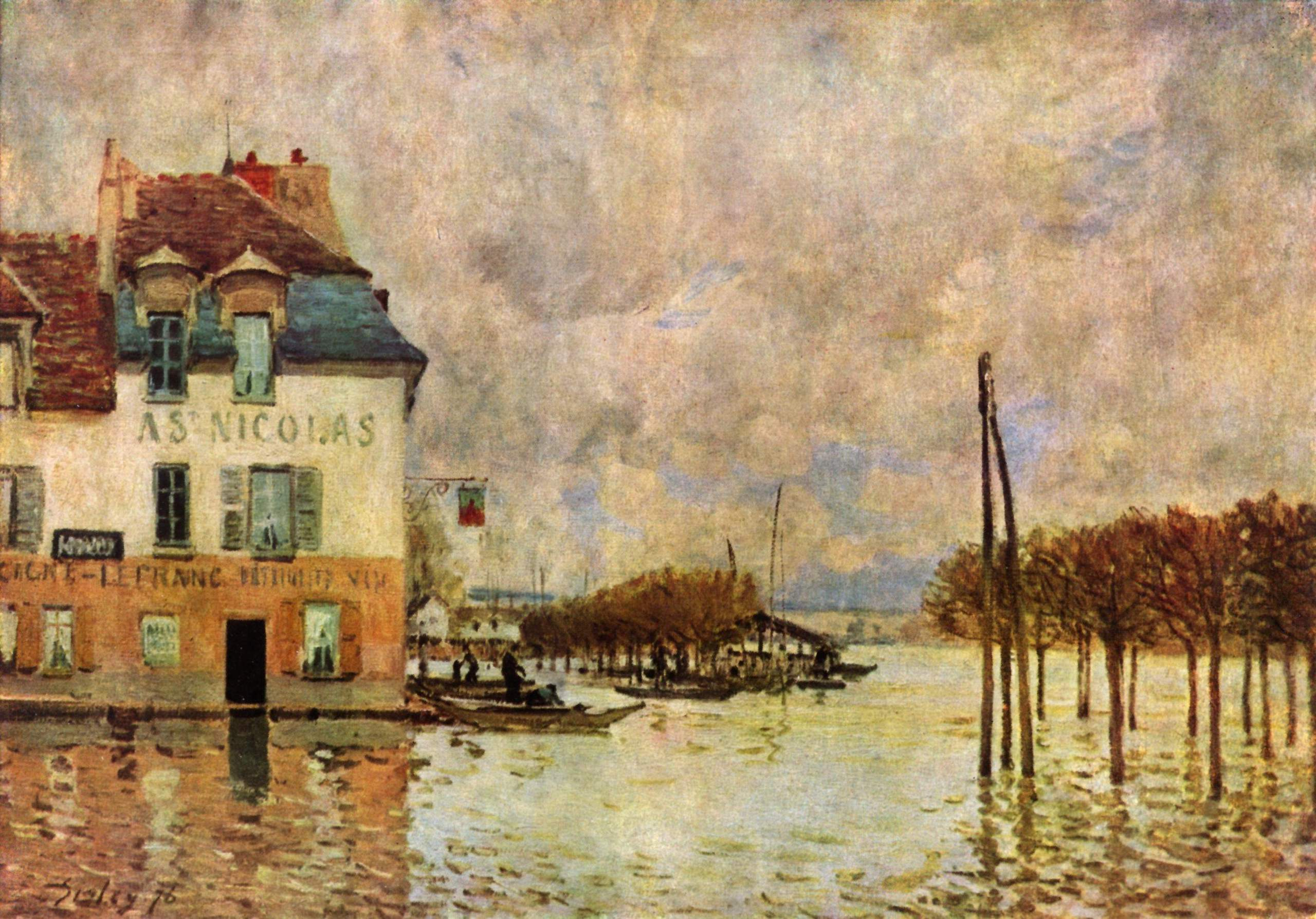Pinturamadrid alfred sisley la inundacion de port marly for Jardin secret des hansen