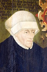 Anna II, Abbess of Quedlinburg. In the pre-modern era in some parts of Europe, abbesses were permitted to participate and vote in various European national assemblies by virtue of their rank within the Catholic and Protestant churches. AnnaIIStolQued.jpg