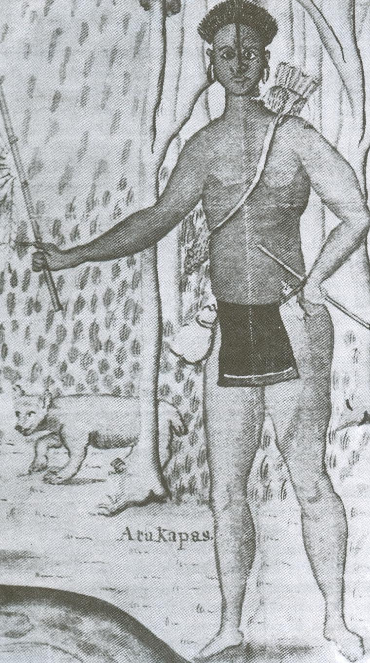 Pictures of Atakapan Indians http://commons.wikimedia.org/wiki/File:Attakapa2-1735-deBatz.jpg