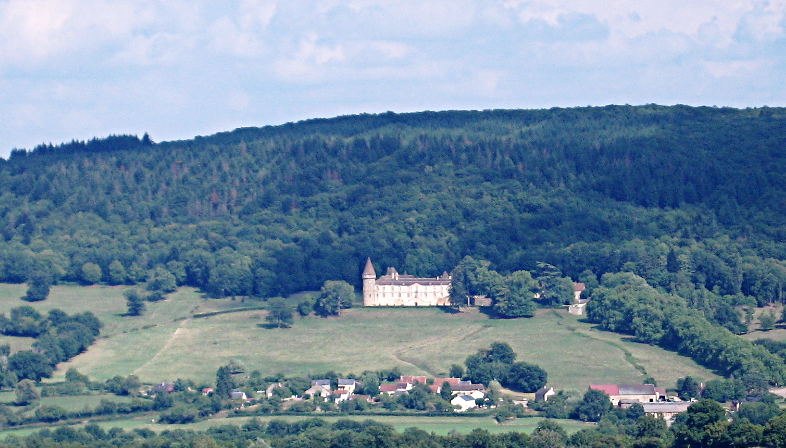 City And Castle of Bazoches, Nièvre, France.