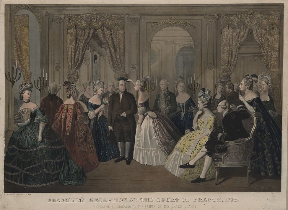 Anton Hohenstein: Benjamin Franklin's reception at the court of France, 1778
