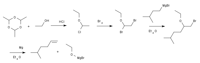 Boord synthesis of isoheptene 1930