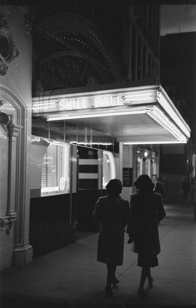 Night scene in Butte in 1939