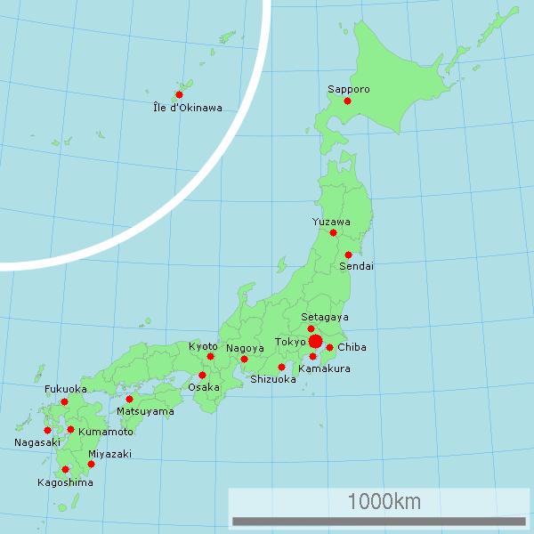 File:Carte du Japon avec les principales villes où l'association