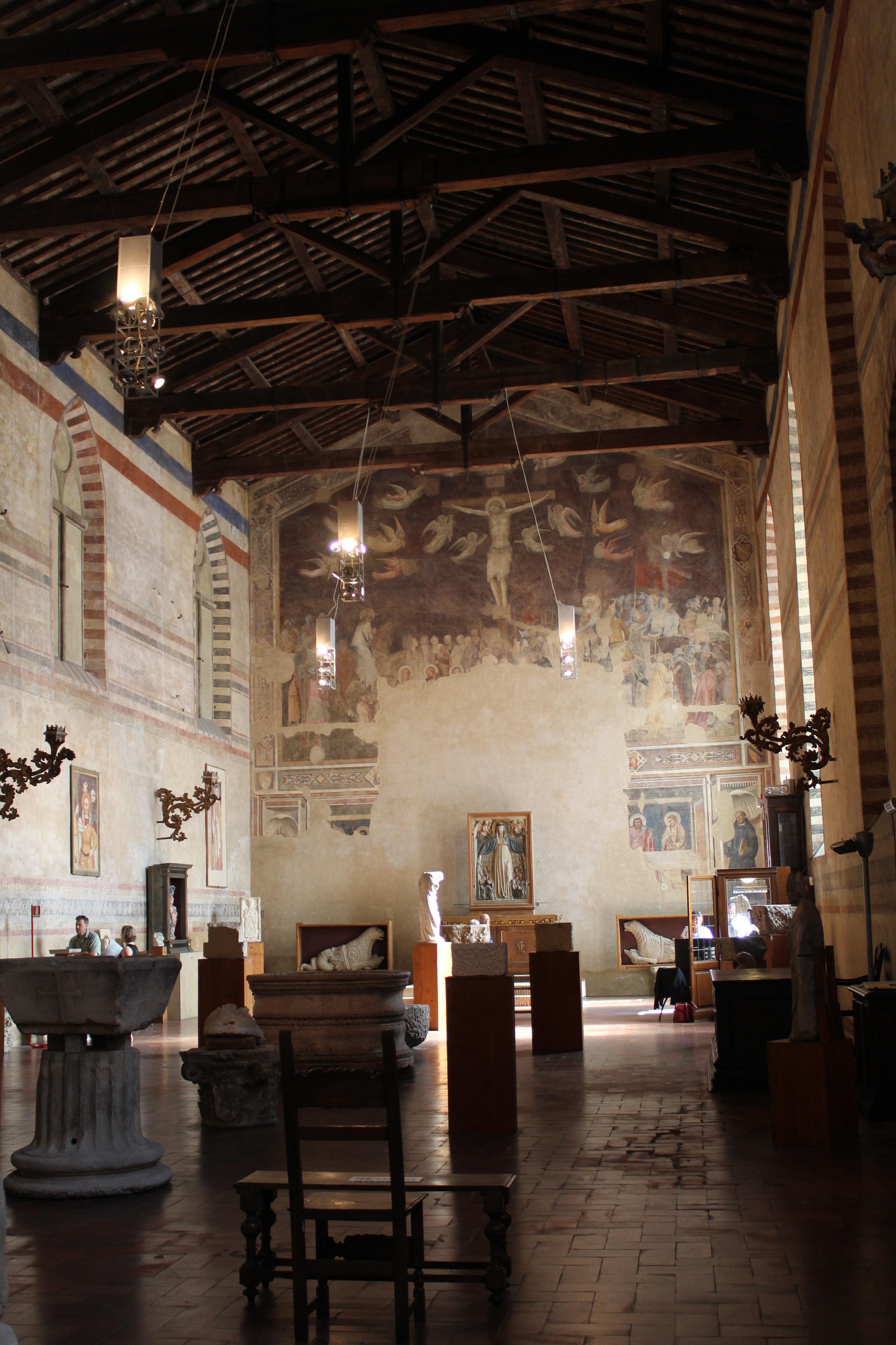 Andrea Orcagna, Crocifissione e ultima cena, Santo Spirito (Fondazione Salvatore Romano) (1365)