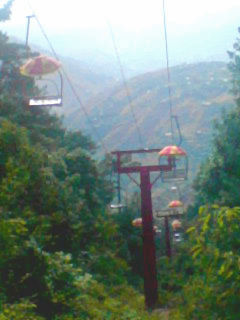 Chairlifts are popular among tourists. - Murree