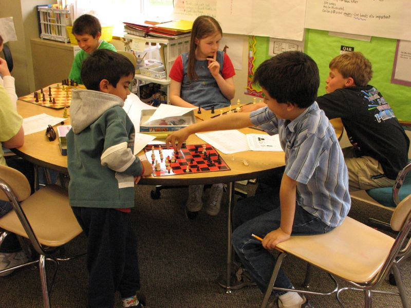 Chess Club at Sandy Hook School in Newtown, CT, USA