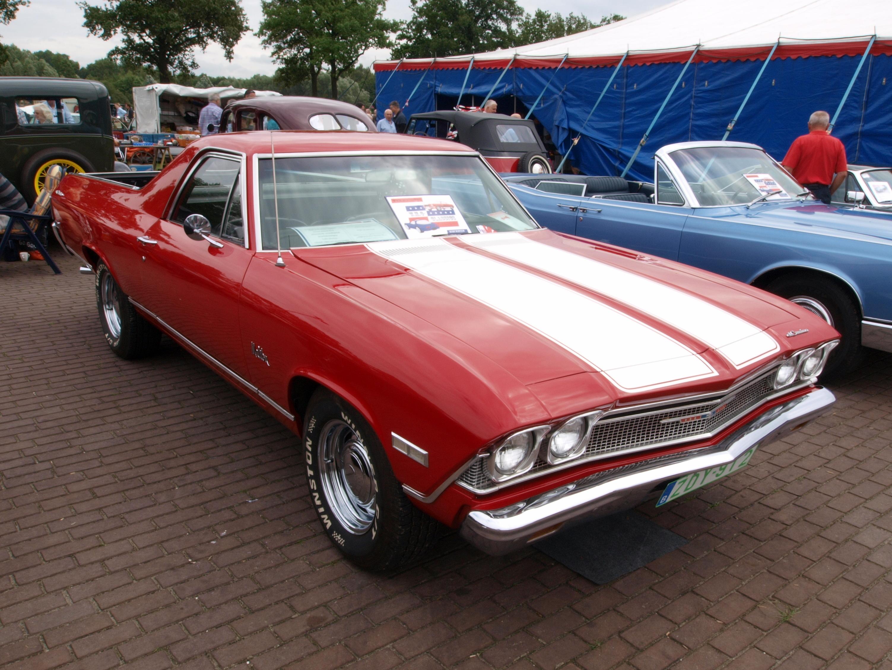 File:Chevrolet El Camino, Belgian licence registration ZDY-912 pA ...
