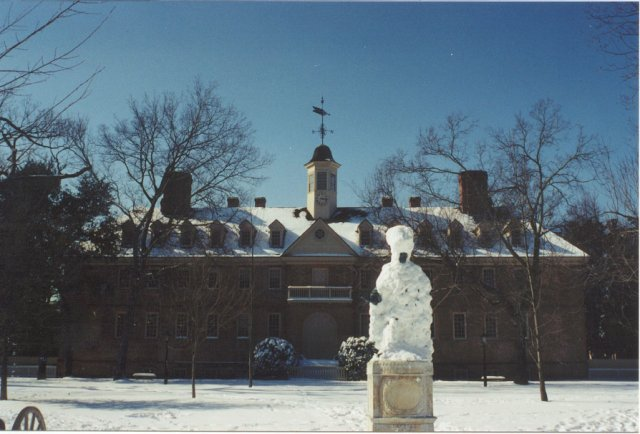 A photo of the campus of the College of William and Mary.