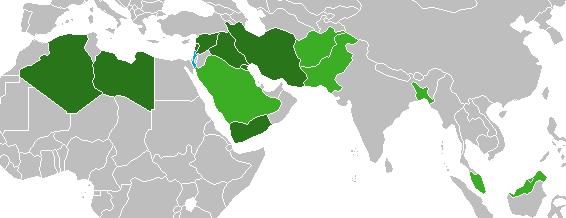 File:Countries that reject Israeli passports.png