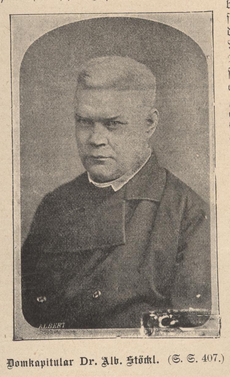 Cathedral Canon Dr. Albert Stöckl, Eichstädt, 1896