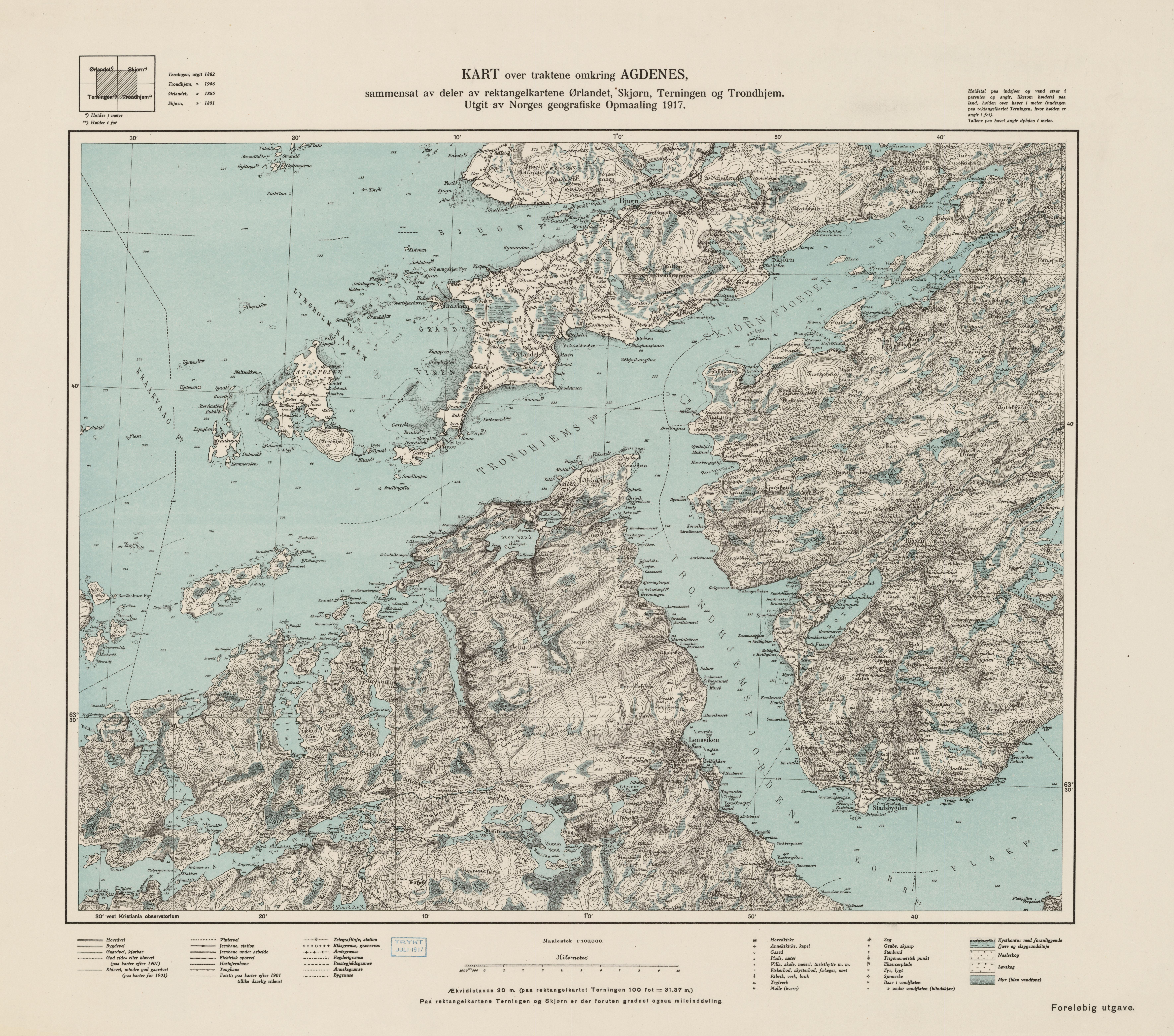 kart over agdenes File:Ekserserplasskart; Kart over traktene omkring Agdenes, 1917  kart over agdenes