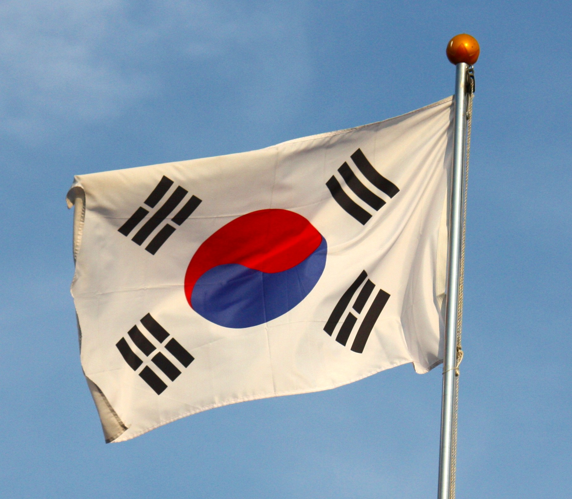 File flag of south korea jpg wikimedia commons - Picture of a korean flag ...