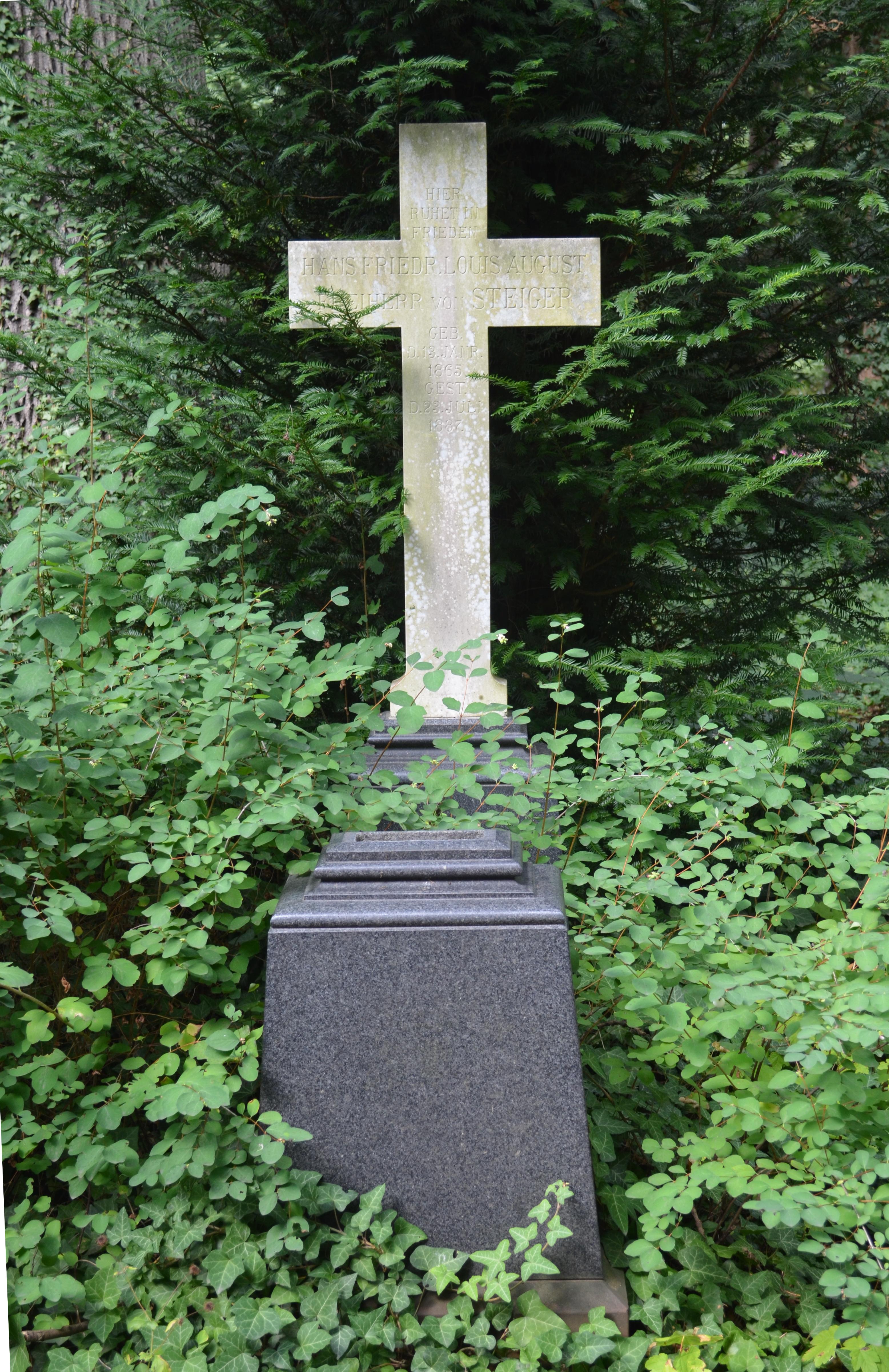 Dateifrankfurt Hauptfriedhof Grab C 54 56 Von Steiger 1878jpg