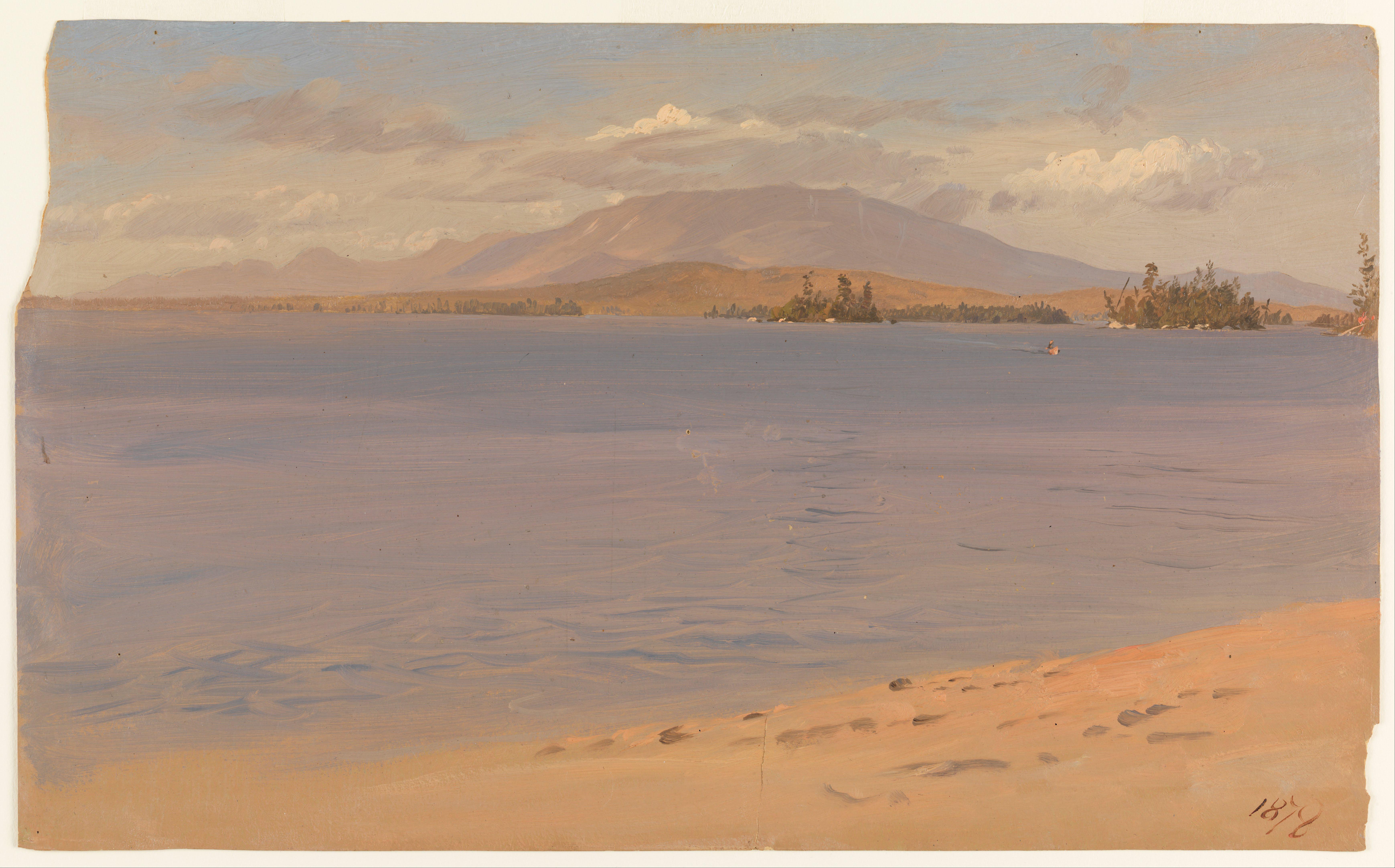 File Frederic Edwin Church Mount Katahdin From Lake