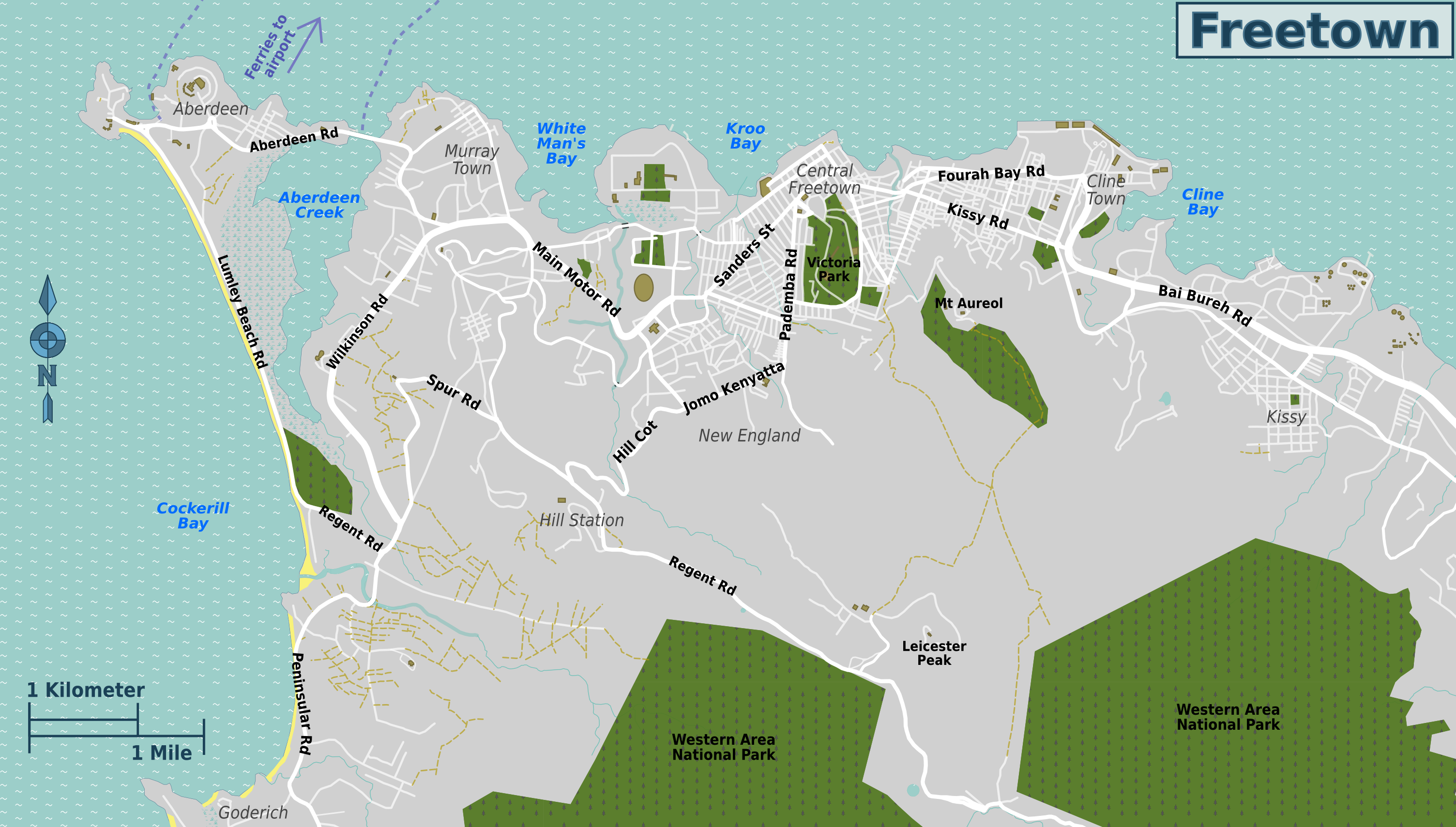 File:Freetown overview map.png - Wikimedia Commons Freetown Map