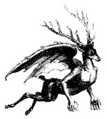 Image of Furfur from Collin de Plancy's Dictionnaire Infernal.