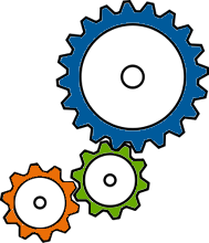 English: Colored Gears