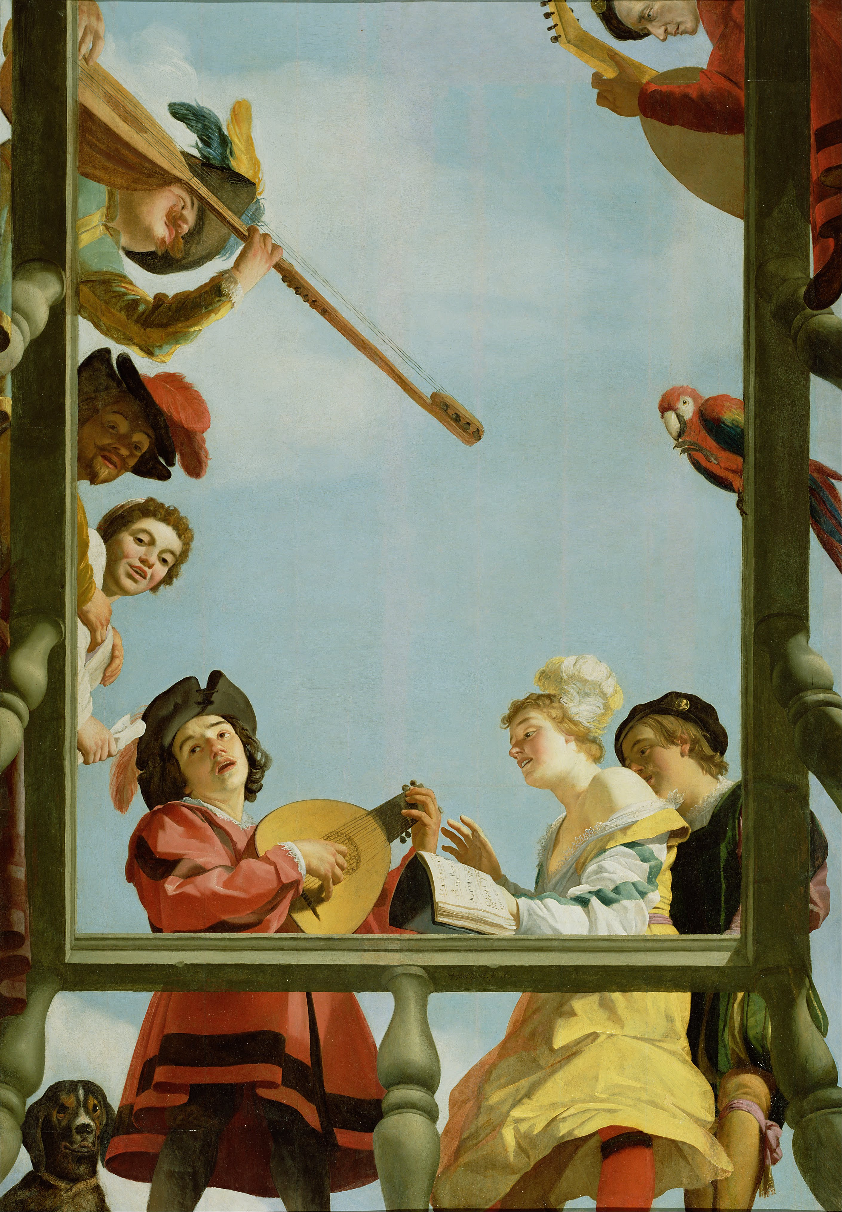 Best depictions of music in paintings: Gerard von Honthorst, Musical Group on a Balcony, ca. 1622. Getty Center, Los Angeles, CA, USA.