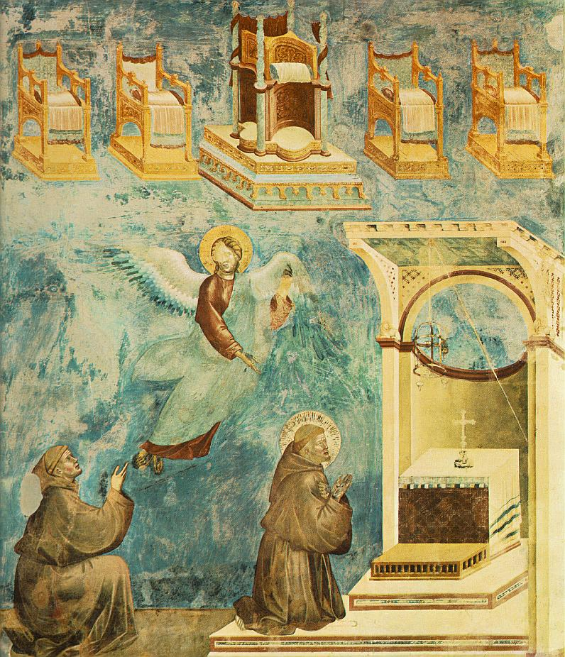 Giotto - Legend of St Francis - -09- - Vision of the Thrones.jpg