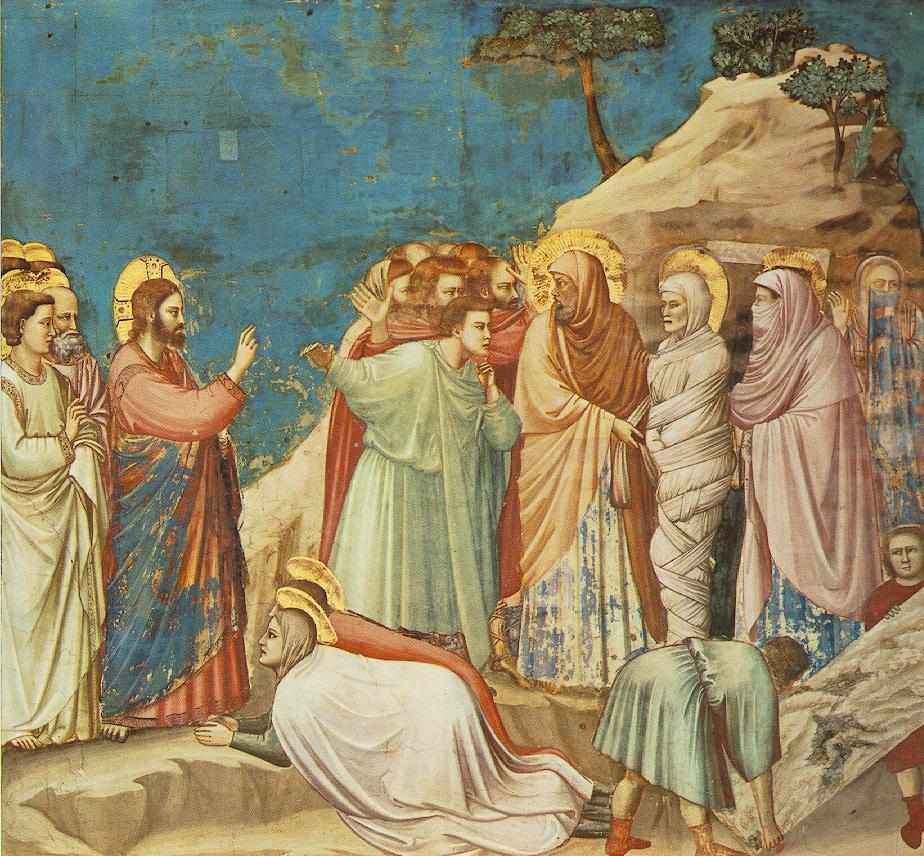 Giotto di Bondone - Wskrzeszenie Łazarza