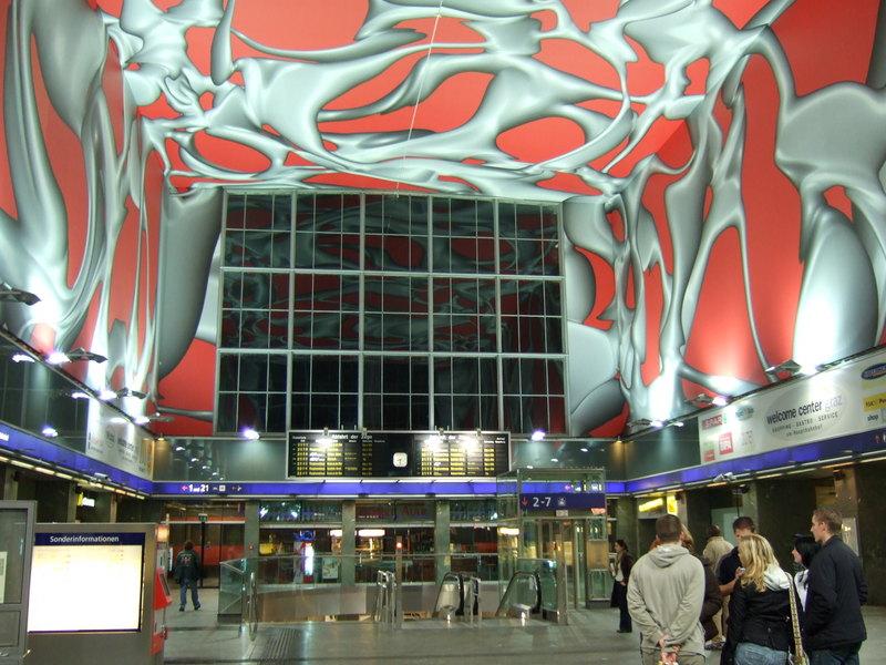 Halle des Grazer Hauptbahnhofs