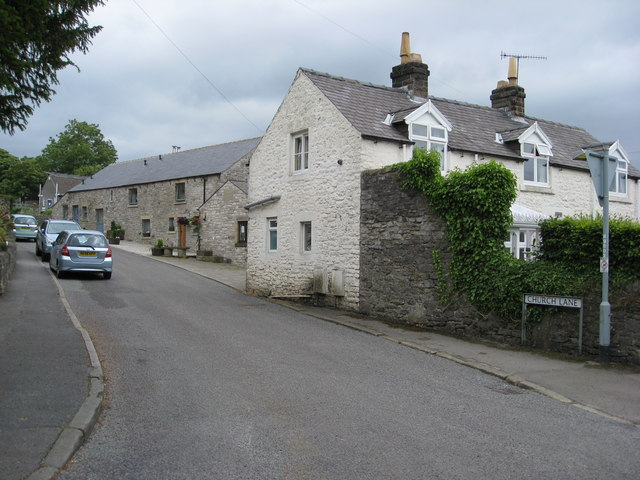 Great Longstone - View up Church Lane - geograph.org.uk - 864079