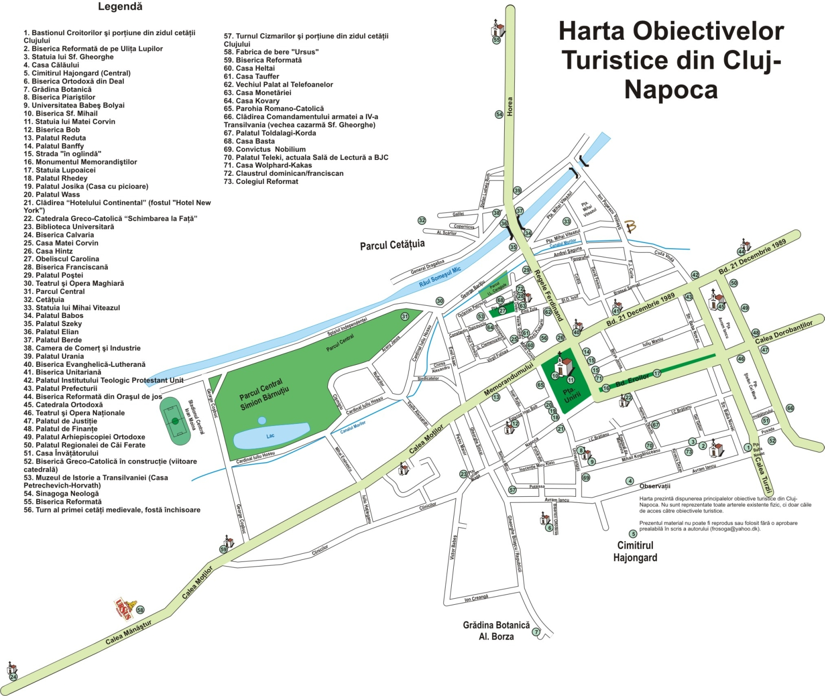 File Harta Obiective Turistice Cluj Napoca Jpg Wikimedia Commons