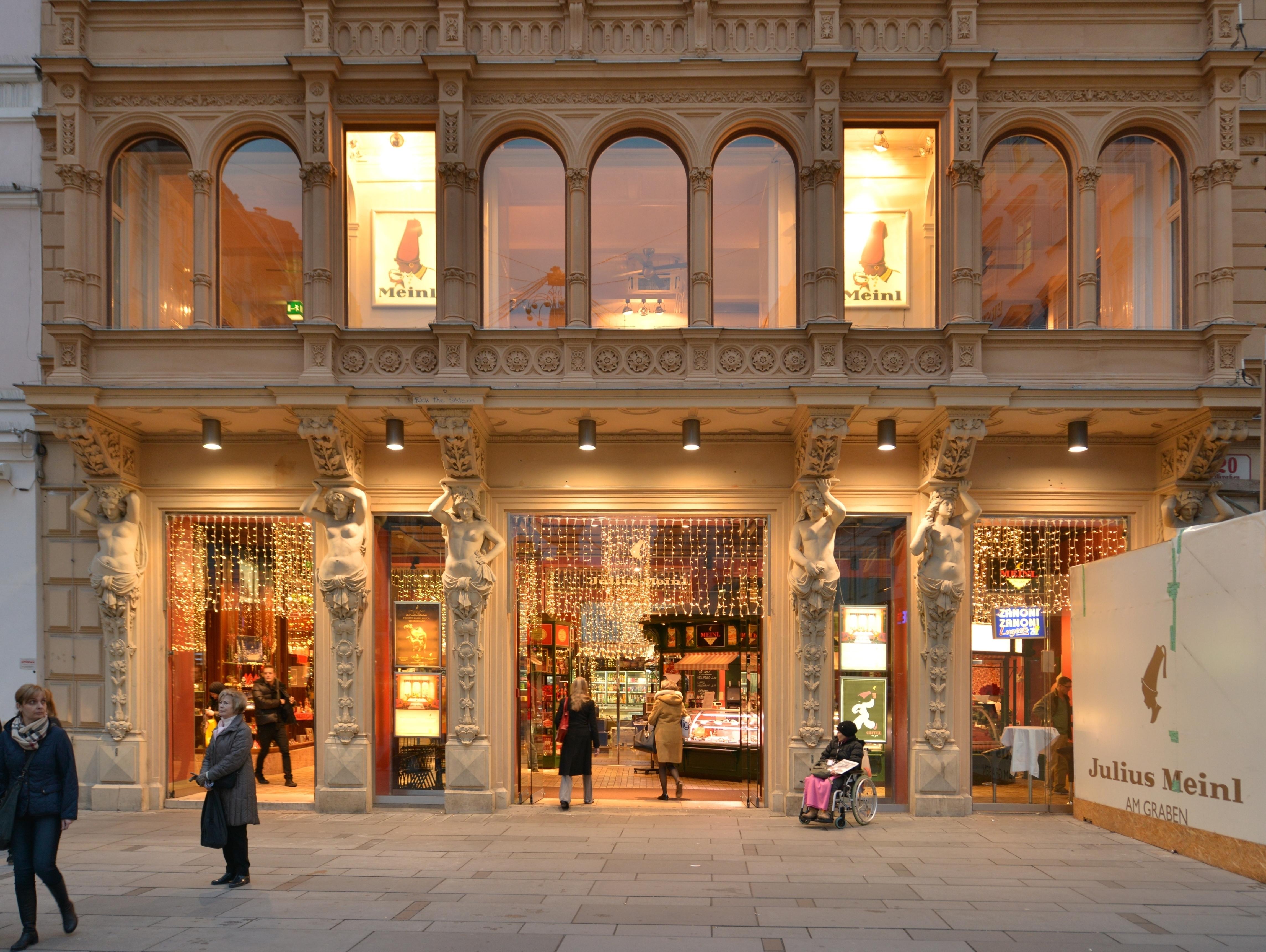 File Haus Liebig mit Geschäft Meinl Graben 20 Naglergasse 1, Wien 1 JPG Wikimedia Commons