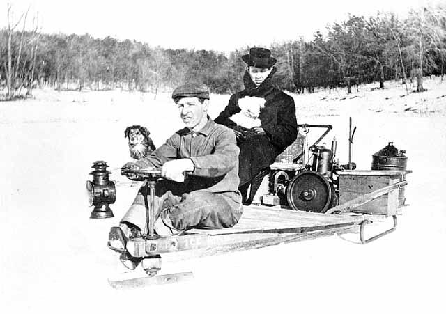 File Homemade Snowmobile 1910 Pf008245 Jpg Wikimedia Commons